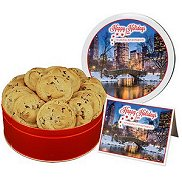 Full Color Gourment Cookie Tins with Fresh Baked Cookies