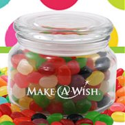 Logo Candy Jar Filled with  Treats