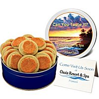 Corporate Cookie Gifts with matching lid and greeting card