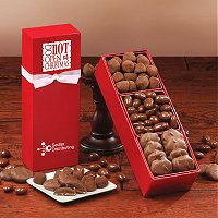 Gourmet chocolate and nut assortements  decorated with your logo