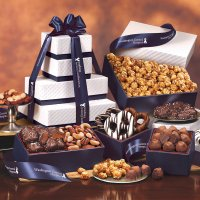 Gourmet Gift Baskets and Towers with  imprint
