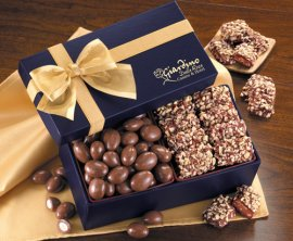 Custom Candy and nuts in Navy Gift box with your logo on box