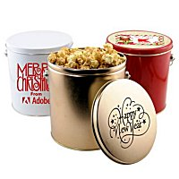 Imprinted Popcorn Tins