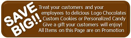 gourmet food gifts, corporate cookies, personalized candies on sale  - Please mention when placing your order