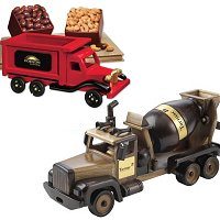 Collectible Wood Vehicles and Construction  Equipment with Food